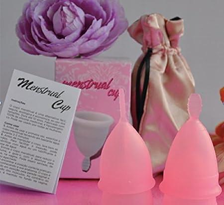 Copa Menstrual de silicona (Rosa, S)