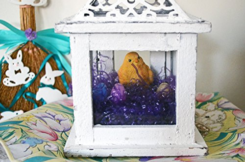 Easter Diorama Lantern Centerpiece Table Decoration with Lights, Spring Diorama, Chick Lantern, Ready to Ship! (Lanterns Easter)
