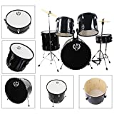 MBAT M6005 Complete Junior Kids Child Drum Set Black