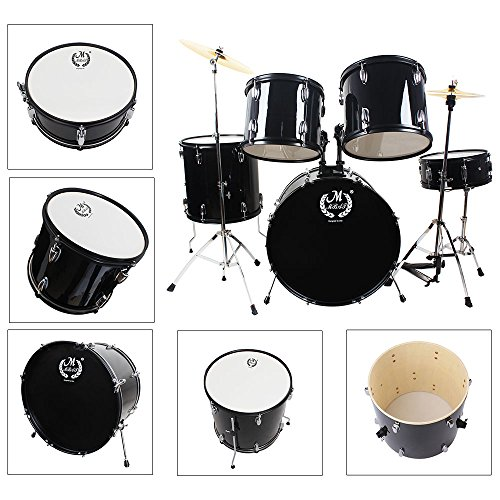 MBAT M6005 Complete Junior Kids Child Drum Set Black by MBAT