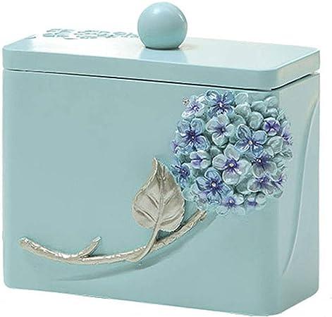 Ffshop Caja de Palos de algodón portátil de Resina portátil Tallada a Mano con Forma de Flor: Amazon.es: Hogar