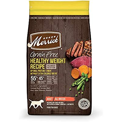 Merrick Grain Free Healthy Weight Beef Recipe Dry Dog Food
