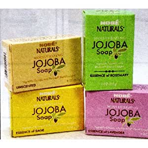 Hobe Naturals Jojoba Bar Soap, Rosemary, 4-Ounce (Pack of 3)
