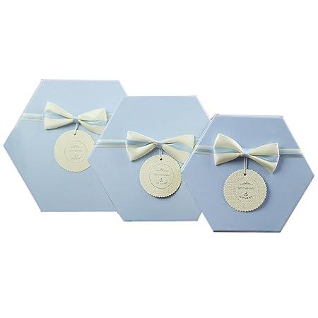 Continental Beautiful Hexagonal Three Piece Gift Box Birthday