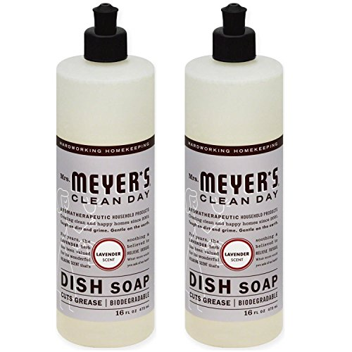 Day Dish (Mrs. Meyer´s Clean Day Dish Soap, Lavender, 16 fl oz, 2-Pack)
