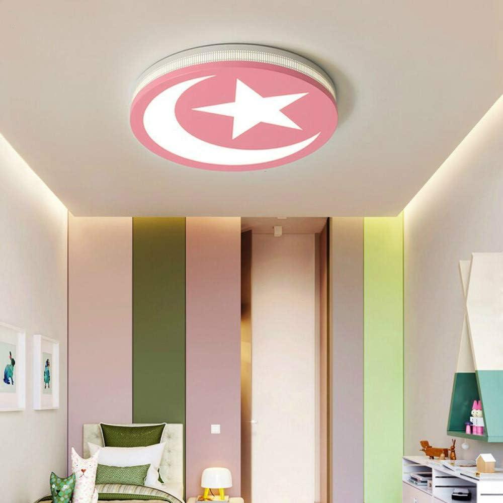 WSYYWD Regulable Led Luz de techo Dormitorio redondo Cocina Luz de techo Iluminador Rosa Blanco frío: Amazon.es: Iluminación