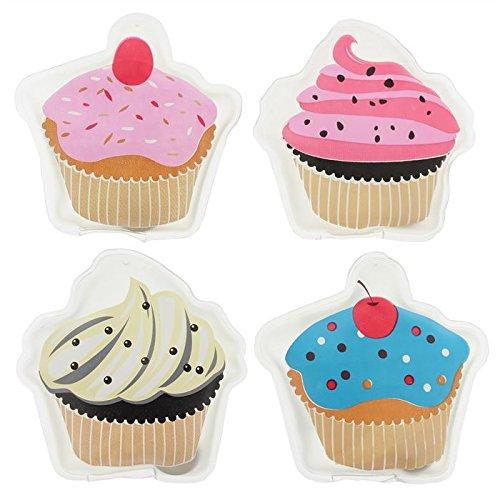 Calentador de manos//bolsillo Cupcakes Juego de 4