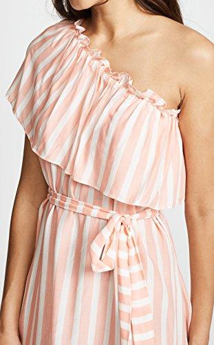 Damen Sommer Mode Gestreift Kurz Kleid mit Bandagen Blusenkleider Strandkleider Chic Schräg Shoulder Shirt Kleider Tunikakleid Partykleider Abendkleider Cocktailkleid Rosa bc9ni0wwyF
