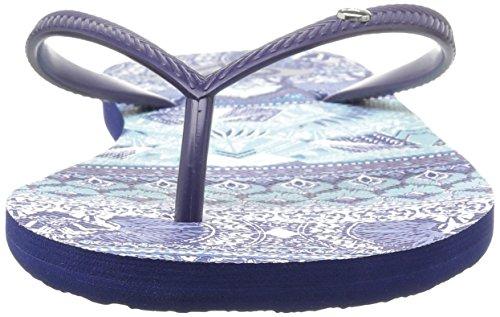 Roxy Damen Bermuda Flip Flops Zehentrenner Navy/Royal