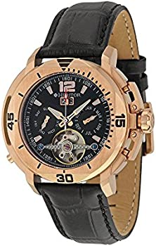 Heritor Lennon Mens Semi-Skeleton Automatic Multifunction Watch