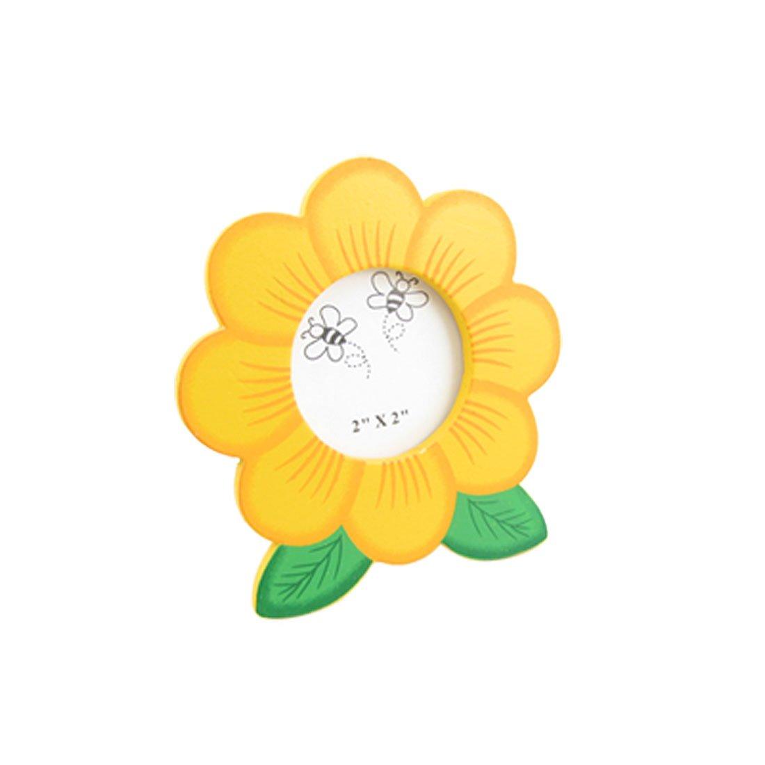 Amazon.com - Sunflower Design Wooden Picture Photo Frame 4.5cm Dia ...