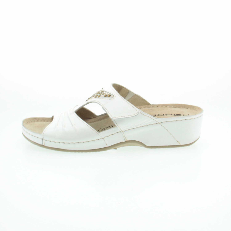 Rohde 579800 - Zuecos de Piel Lisa para mujer, color blanco, talla 37