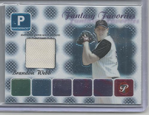 2004 Topps Pristine Baseball Brandon Webb Fantasy Favorites Jersey Card # FF-BW