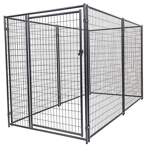 Dog Kennel - Lucky Dog Modular Box Kennel - This Welded Animal Enclosure is Perfect for Medium to Large Dogs and Animals and is Designed with Their Safety and Comfort In Mind. Dimensions (6H x 10L x