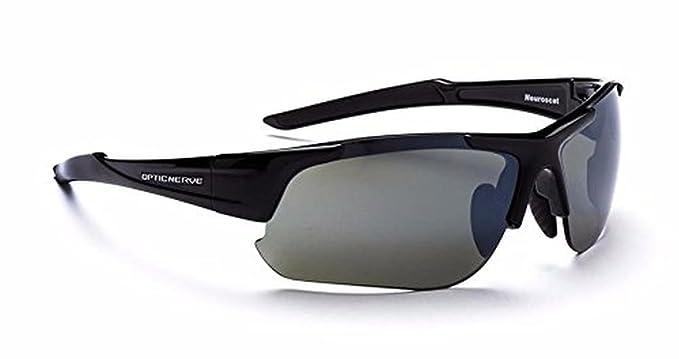 c37b136bf1 Amazon.com  Optic Nerve 2-Lens Interchangeable Half Frame Wrap Around  Sunglasses