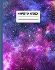 Composition Notebook: Night Spiral College ruled Galaxy Notebook Space Universe themed Note Book for Kids Boys and Girls School Home Work