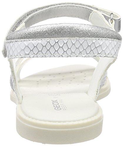 Plateado Niñas D Sandal Cuña Con Girl Para Sandalias silver Karly white J Geox zZqCwvW