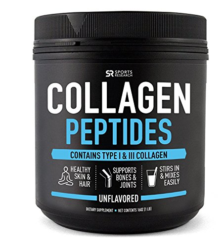 Pure Collagen Peptides Powder (Hydrolyzed) | Grass-Fed, Certified Paleo Friendly, Non-Gmo and...