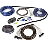 1000 watt amp install kit - NVX Audio 100% Copper 4 Gauge Car Amp Install Kit w/ 5-6 Channels RCA, Up To 1000 Watts RMS [XKIT46]