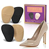 Heel Cushion Inserts (2 Pairs: 4 Pieces) - Shoe Inserts Women - High Heel Inserts for Women - Metatarsal Pads for Women - Ball of Foot Cushions for Pain Relief from Neuroma, Bunions, and Metatarsalgia