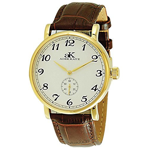 Adee Kaye Men's Vintage Mechanical Japan Movement Watch AK9061-MG-SV
