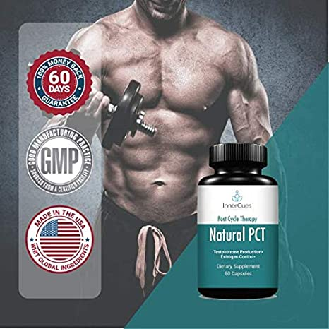 InnerCues -Natural Post Cycle Therapy - 3-in-1 PCT Supplement with Estrogen  Blocker,