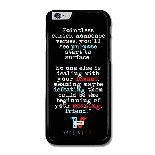 Twenty One Pilots Lyrics Design for Iphone Case (iPhone 5/5S - Band Drop Pilot The
