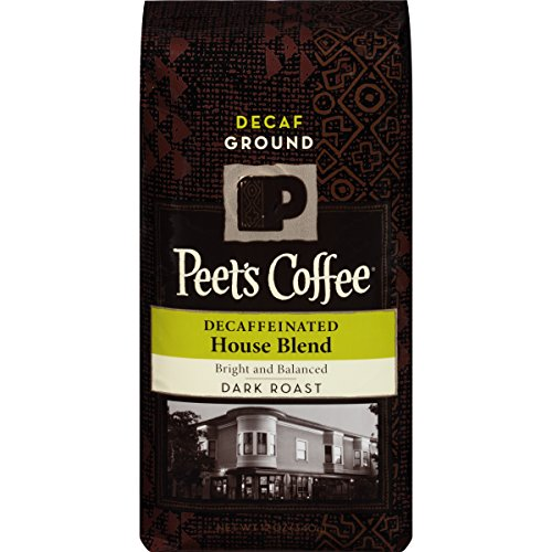 Peet's Coffee, Decaf House Blend Ground, Dark Roast, 12-Ounce bag
