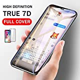 Fuchuang iPhone X XS Screen Protector Tempered Glass, 7D Front Full Coverage, High Clarity, Dustproof, Easy Installation, Scratch Resistant 5.8 Inch, Black (One Pack)