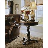 preston end table - Hooker Furniture Preston Ridge Pedestal Accent Table