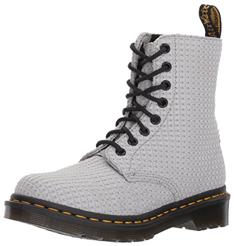 Dr. Martens Women's Page WC Fashion Boot, Mid Grey Waffle Cotton, 3 Medium UK (5 US) by Dr. Martens