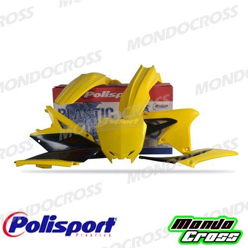 MONDOCROSS Kit plastiche cross mx POLISPORT Giallo Nero Colore OEM 2010//2012 SUZUKI RMZ 250 10-18