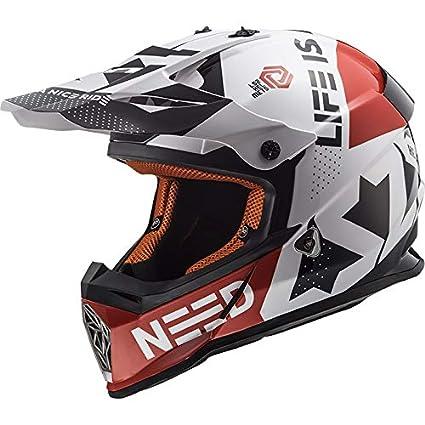 Amazon.es: LS2 MX437 Casco Moto Estilo Motocross Trial ...