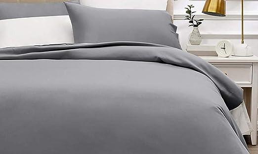 Bassetti Pantone - Juego de sábanas para cama de matrimonio, 100% algodón encimera de 240 x 290, 2 fundas de almohada de 50 x 80 cm y 1 sábana bajera de 180 x 200 cm. Fabricado en Italia.: Amazon.es: Hogar