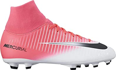 e00440039 Nike Kids MercurialX Victory Vi Dynamic Fit Fg Racer Pink Black White Soccer  Shoes
