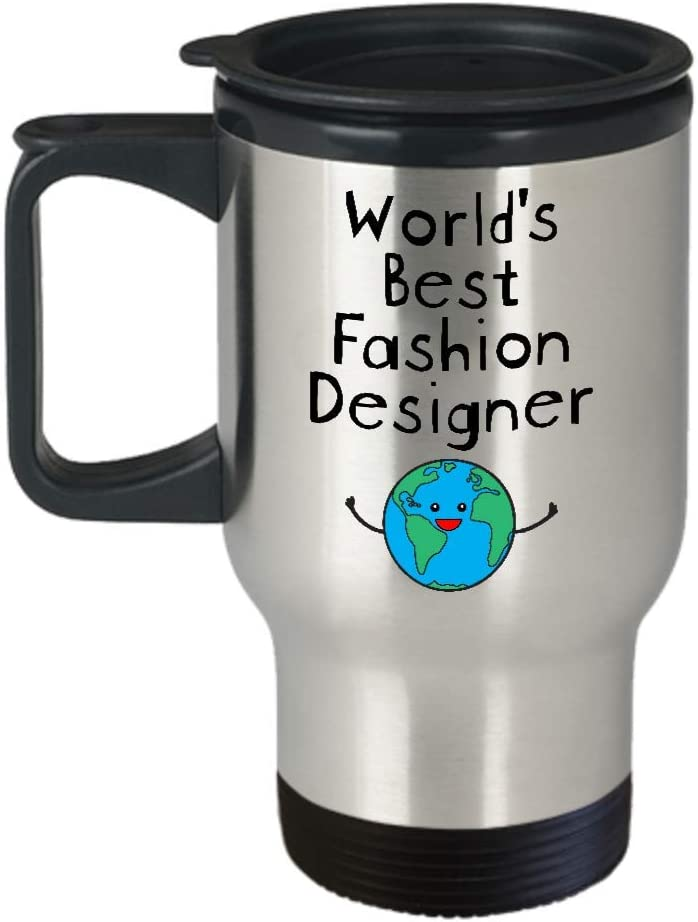 Amazon Com World S Best Fashion Designer Travel Coffee Mug Stainless Steel Gifts For Thank You Appreciation Graduation Retirement Men Women Badass Future Superpower Ever Trust Me I Am Awesome Kitchen Dining