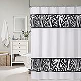 zebra fabric shower curtain - HOKEMP Hotel Grade Fabric Shower Curtain, Water-Repellent and Mildew Resistant Bathroom Shower Curtain with 12 Hooks - 72