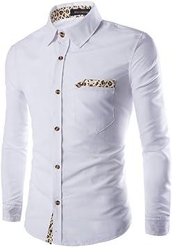 Camisa Hombre Manga Larga Camiseta Hombre Manga Larga Con Button ...