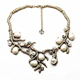 Fun Daisy New Design Jewelry Vintage White Simulated Pearls branch Retro Fashion Necklace