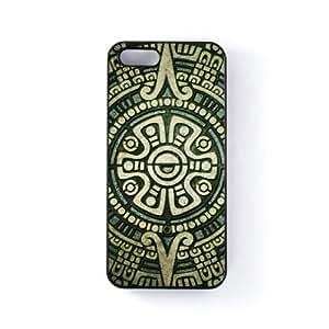 Mayan Sun Carcasa Protectora Snap-On en Plastico Negro para Apple® iPhone 5 / 5s de DevilleArt + Se incluye un protector de pantalla transparente GRATIS