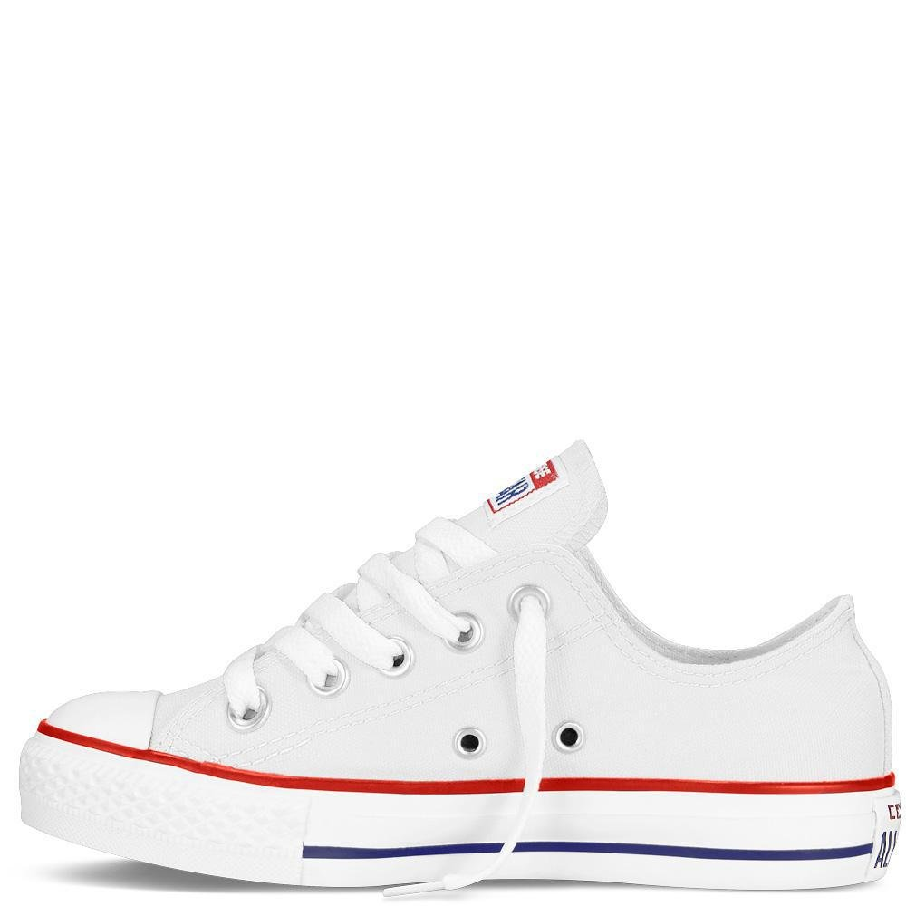 Converse Chuck Taylor All Star Canvas Low Top Sneaker, Optical White, 13.5 M US Little Kid by Converse (Image #8)