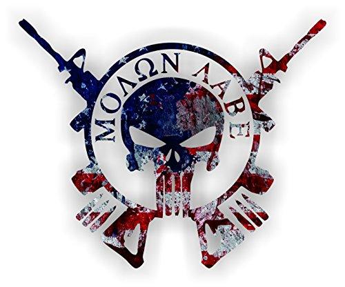One-1-pc-Retro-American-Flag-MOLON-LABE-4-inches-High-resolution-Print-Hard-Hat-Biker-Helmet-Stickers