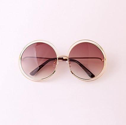 Z&YQ Sonnenbrille Full Metal Double Circle Wire Rahmen Übergroße Runde Polarisierte Gläser , g