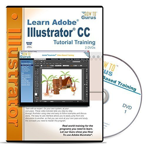 Adobe Illustrator CC Tutorial Training on 2 DVDs by How To Gurus