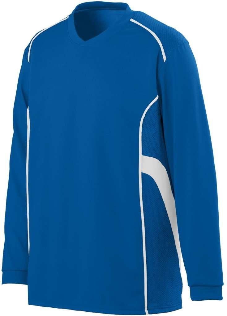 AugustaメンズWinning Streak Long Sleeve Jersey B00HU3ZQZ4 Small|ロイヤル/ホワイト ロイヤル/ホワイト Small