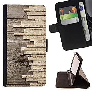 - Matchstick Art Construction Wood - Estilo PU billetera de cuero del soporte del tir???¡¯????n [solapa de cierre] Cubierta- For Apple Iphone 4 / 4S £š Devil Case £©