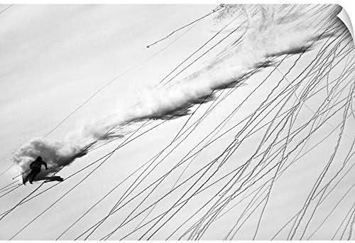 "Lorenzo Rieg壁Peel壁アート印刷entitledスキーパウダー 60"" x 40"" 2355618_14_60x40_none"