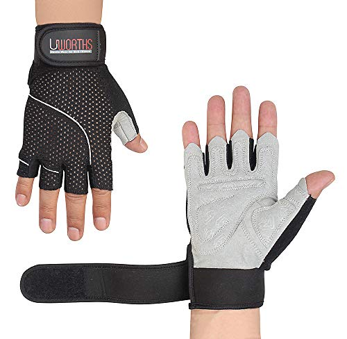Weight Lifting Gloves Premium Full Grips Extra Protection Mens & Womens Ideal for Cycling, Gym Training Pull Ups & Home Use with Short Wraps Fingerless - Full Training