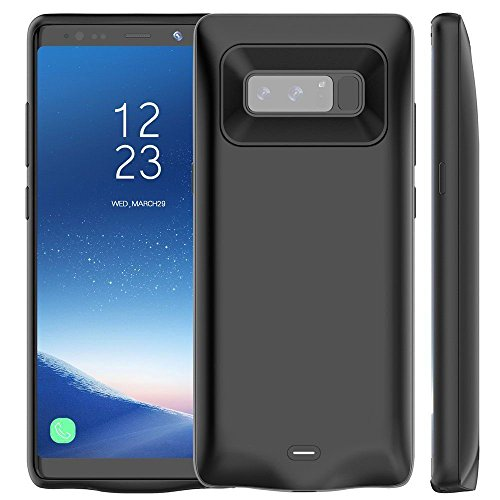 Cewaal Battery Case,5500mAh External Rechargeable Portable Extended Battery Charger Pack for Samsung Note 8