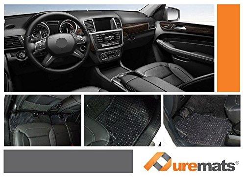 PUREMATS Mercedes-Benz GLE Class Floor Mats 4pcs Set- All Weather Crystal Clear - Heavy Duty AUTO MATS ZONE INC 2016-2017-2018-2019